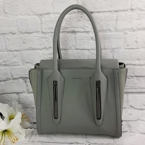 Pour La Victoire gray leather handbag